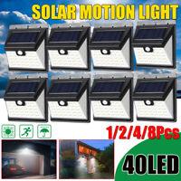 40 LED ad Energia Solare Sensore di Movimento Luce Giardino Esterno Sicurezza Da