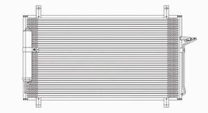 A/C Condenser TYC 4707 fits 03-09 Nissan 350Z