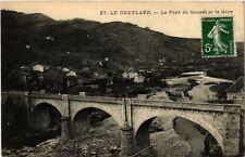 CPA  Le Cheylard - Le Pont de Sauzet et la Gare  (484874)