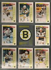 1992-93 Panini Hockey Stickers Boston Bruins Team Set (14)