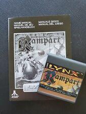 RAMPART Atari Lynx NEW CARTRIDGE AND MANUAL ONLY NO BOX