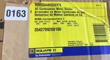 Square D AC Combination Motor Starter NEMA ~ Size 2 ~ 8538SDA44V02ASY74 ~ D163