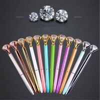 One New Diamond Head Crystal Ball Pen Concert Pen Creative Pen Stationery 14CM
