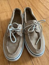 Sperry Top Sider Mens Boat Shoes Light Tan Leather Size 9M