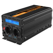 Convertisseur 24V 220V 230V 1500W 3000W pure sinus onduleur  LCD 2 ports USB