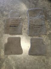 01-06 BMW 325CI E46 Floor Mat Carpet Rug Set W/ Logo Gray OEM