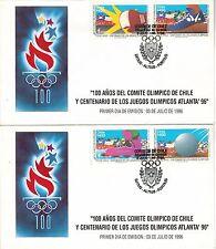 Chile 1996 FDC Comite Olimpico y Juegos Olimpicos Atlanta '96
