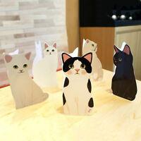 2x Stehendative Katze GRUSSKARTE Geburtstag Valentines Get Well Q6W7