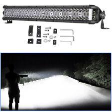 "Tri-Row 21"" INCH 270W LED Work Light Bar Side Shooter Suv Boat Fog Driving Lamp"