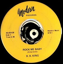BB King 45 Blues Rock Me Baby I Can't Lose Mint- Modern MX30