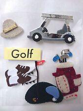GOLF Sticker embellishment, Cardmaking, Fathers Day, Scrapbooking