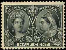 Canada #50 mint F-VF OG NH 1897 Queen Victoria 1/2c black Diamond Jubilee