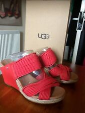 BNIB UGG W Hilarie Wedge slip on mules size UK 4.5