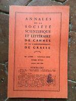 Annales de la Société Scientifique et Littéraire de Cannes Grasse XVIII 1965-66