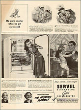 1941 vintage appliance AD SERVEL Electrolux GAS REFRIGERATOR No Noise! 070217