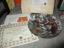 """"""" The Squirrel """" Friends of the Forest Collection Plate Kevin Daniel w/ Coa Box"""
