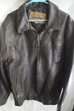 Machine Type Field Apparel Faux Leather Motorcycle-Style Jacket Large