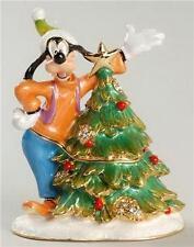 Disney Goofy porcelain jeweled keepsake treasure box Hb Figurine