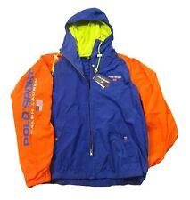 Polo Sport Ralph Lauren Men's Rugby Royal Multi Logo Hooded Windbreaker Jacket