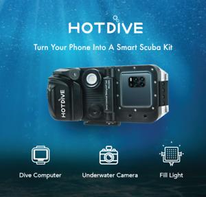 HotDive Pro - Underwater Auto-Vacuum Smartphone Housing - 80m - inc computer