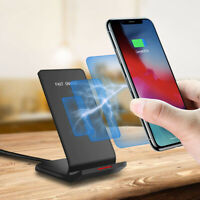10W Fast Qi Wireless Charger Dock Stand For iPhone 11 11Pro Max 8 X 8Plus XS XR