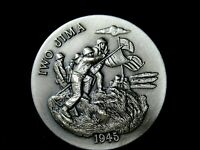The 1945 Iwo Jima WWII Silver Medal, Gorgeous Deep Engraving 1.1+ Ozt