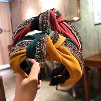 Sequin Patchwork Headband Hairbands Women Hair Hoop Accessories Bowknot