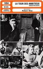 FICHE CINEMA : LA TOUR DES AMBITIEUX - Holden,Allyson,Wise 1954 Executive Suite