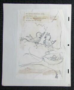 1950's KITTEN TALES Childrens Book Pencil Illustration G/VG 3.0 Mom & Dad pg10