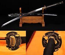 Clay Tempered Folded Steel Japan Samurai Sword Katana Copper Razor Sharp #1799