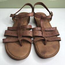 Born Sandals Ankle Strap Women Size 10M/W Tan Leather Upper