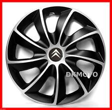 """4x14"""" Wheel trims Wheel covers for Citroen 14'' steel wheels  black/silver"""