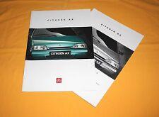 CITROEN AX 1995 prospectus brochure depliant catalog Prospetto prospecto