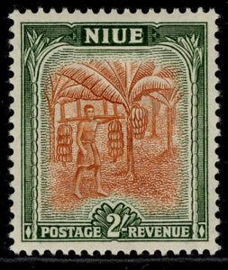 NEW ZEALAND - Niue GVI SG121, 2s brown-orange & dull green, M MINT.