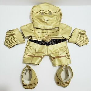 Build A Bear Star Wars C3PO Outfit Retired 2010 6pc Set gloves shoes mask jumper