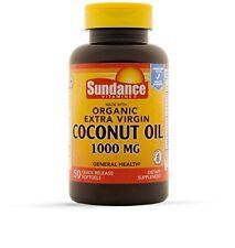 Sundance Organic Extra Virgin Coconut Oil 1000 MG Dietary Supplement 50 Softgels