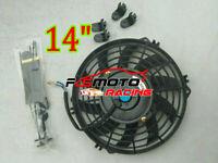 "Universal 14"" inch Slim Fan Push/Pull Electric Radiator Cooling Engine Kit Truck"