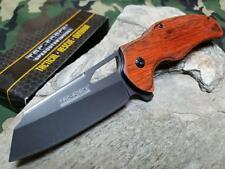 TF935BW Couteau Tac Force A/O Lame Acier Carbone/Inox Manche Bois