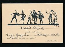 Germany novelty circus SILHOUETTE Clowns Pierrots 1930 PPC