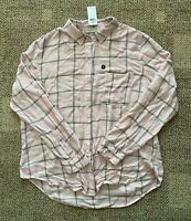 Womens Abercrombie & Fitch Long Sleeve Button Down Shirt Pink Size XL