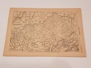 Map of Kentucky Theatre of Generals Buell & Bragg 1862 Civil War Harper's Weekly
