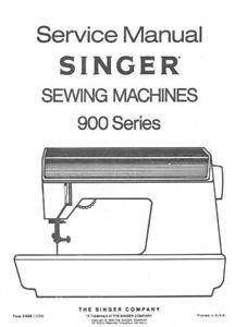 Singer Sewing Machine Service Manual Classes Model 900 920 Repair Futura Sew
