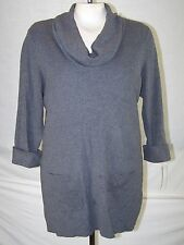 INC NEW Gray Grey Cowl Neck Ribbed Sweater Tunic Top Womens Plus Size 0X 10W 12W