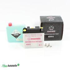 Motorrad Batterie B39-6 6V 7Ah Moretti nach Befüllung absolut wartungsfrei