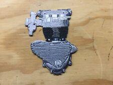 Triumph Motorcycle Engine Motor Patch, vintage jacket