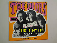 """DOORS:Light My Fire 6:30-Take It As It Comes-Crystal Ship-France7""""Elektra EP PCV"""