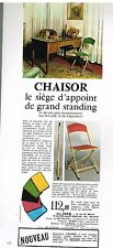 Publicité Advertising 1973 Chaisor chaise Siege d'appoint de grand standing
