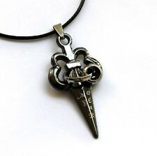Word Dagger Shape Pendant Titanium Steel Love /My Dear
