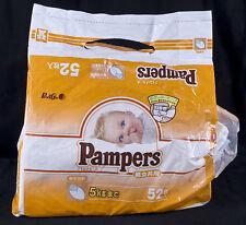 Vtg PAMPERS Made in Japan Infant Baby Diapers Plastic Original Bag Reborn sz 1
