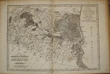 stampa antica Bologna Ferrara old map Italia Lalande 1780 old print gravure